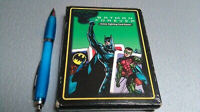 Batman forever crime fighting Card game 10x13cm 60 Cards 1 coin with instruction
