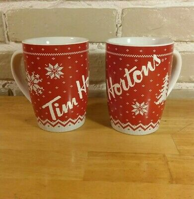 Tim Hortons Mug Holiday Winter Sweater Limited Edition 2015 Cups