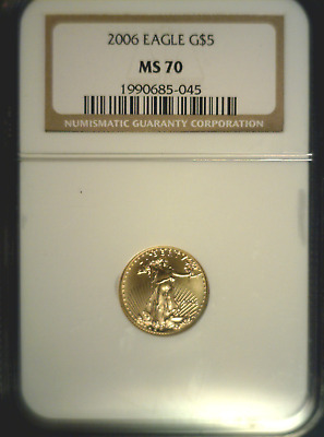 ****    2006 U.S. $5 Gold Eagle NGC MS70