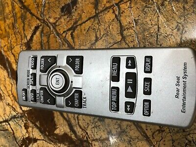 2009 2011 Toyota Sienna MINIVAN DVD Entertainment Remote Control REAR SEAT OEM