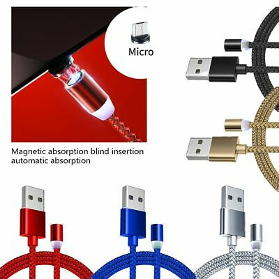 360° Magnetic Adapter Charger Charging Cable Cord For iOS Type-c USB C Micro USB