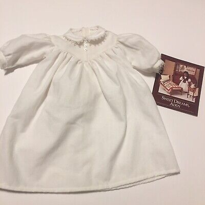 1996 Pleasant Company American Girl Addy White Nightgown & Sweet Dreams Pamphlet