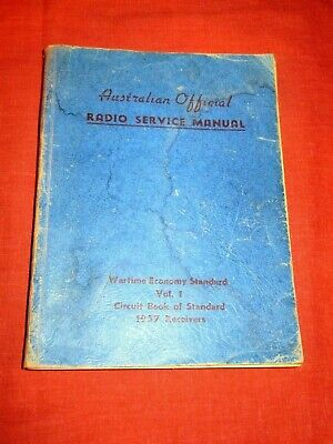1937 Volume 1 Australian Official Radio Service Manual # 2.Valve Radio Restorers