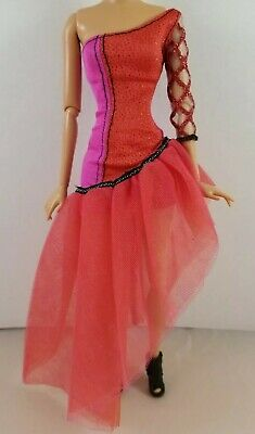 Barbie Doll Fashionistas Sassy Fashion Red Diva Party Dress Glitter Heel Boots