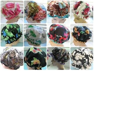 Designer Hand made Shower cap, WATER PROOF SELECT FROM 6 FLORAL DESIGNS