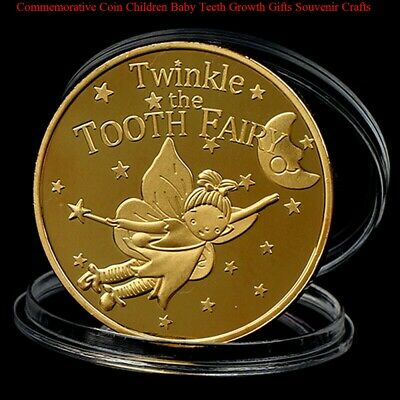 Twinkle the Tooth Fairy Coin Commemorative Coin Children Baby Gifts Souvenir DH