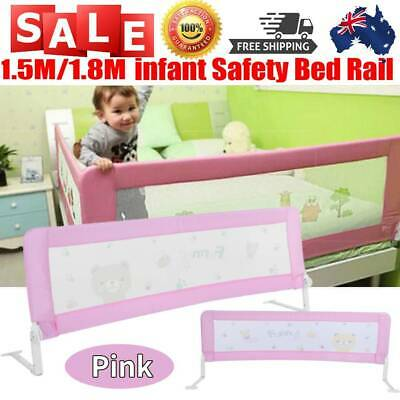 150/180cm Safety Bed Rail/BedRail Cot Guard Protection Child Toddler Kids Pink