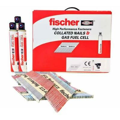 Fischer Collated Nails 1st Fix Galv 50,63,75 & 90mm Paslode,Quickload,Nailfire
