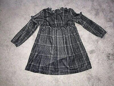 Beautiful Baby Girls NEXT Dress 1.5-2 Years Grey Velvet Feel, Perfect Condition