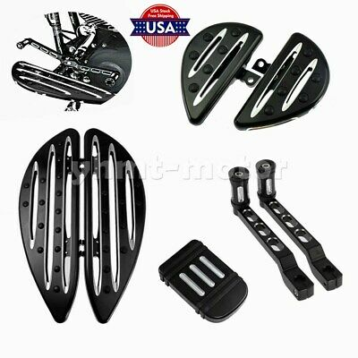Driver Passenger Floorboard Foot Board Shift Lever Brake Pedal Fit For Touring