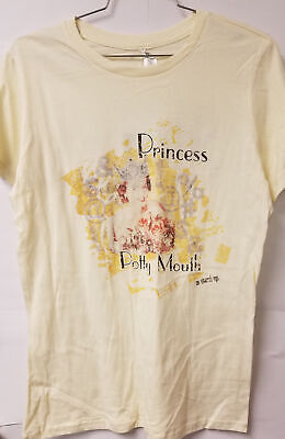 Altered Ego Ladies T Shirt Princess Potty Mouth Size XL 100% Cotton