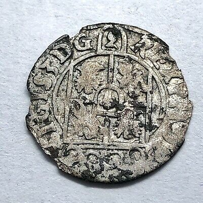 Authentic Medieval European Silver Coin Middle Ages Artifact Old Collect E19