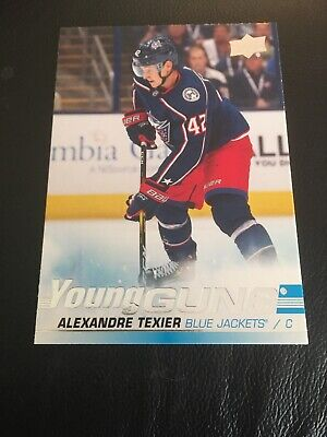 2019-20 Upper Deck Young Guns Rookie Alexandre Texier Blue Jackets! #225