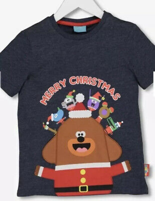Brand New TU Hey Duggee Merry Christmas Xmas T-Shirt 18 - 24 Months NEW BNWT