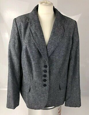 Marks & Spencer M&S Plus Size 18 46 Navy Blue Marl Dinner Evening Jacket Blazer
