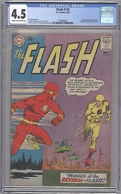 Flash Issue 139 CGC 4.5 1st Appearance of Reverse Flash