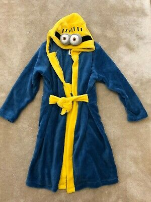 NEW -Despicable Me Minion, Soft & Cosy Fleece, Hooded Dressing Gown, Robe 5-6yrs