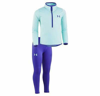 UNDER ARMOUR GIRLS SIZE 3T ~ Purple LEGGINGS Aqua Pullover TOP Brand NEW