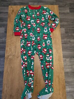 Carters Boys Girls Unisex Christmas Pyjamas All In One Footsie Pj's Xmas Age 3-4