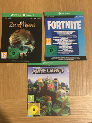 Xbox One Games Bundle - Sea Of Thieves, Minecraft And Fortnite Add Ons.