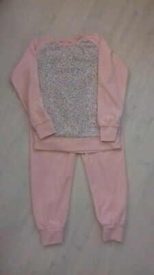 Primark girls pink fleece pyjamas age 10-11