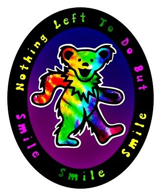 Tie Dye Dancing Bear Vinyl Sticker Decal Hippie Rock n Roll Grateful Dead Yeti
