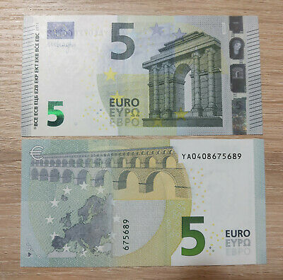 "New prefix /""YA 177/"" 10 Euros 2014 Second series Draghi signature GEM UNC Greece"