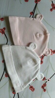 Baby Girl Girls Pink Hats with Ears 4-6 Months 💖 Hat Bundle H&M organic cotton