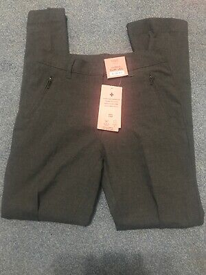 Girls School Trousers Grey Slim Fit Marks And Spencer Age11-12 New With Tags