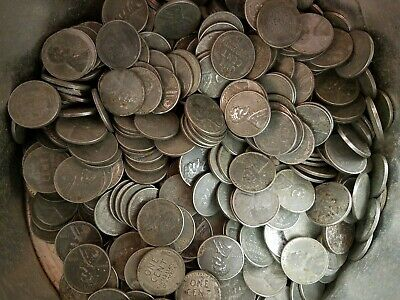 Random Lot of 20 Coins 1943 lots P Steel Cent Lincoln Wheat Penny Pennies Gift!