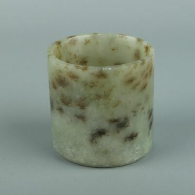Chinese Exquisite Hand-carved Hetian jade cup