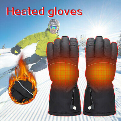 Unisex Electric Heated Gloves Thermal Outdoor Camping Hiking Warmer Winter