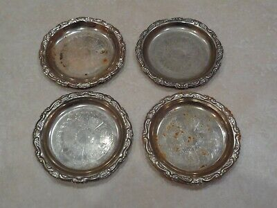4 Vintage Silver Plated Coasters made in Italy