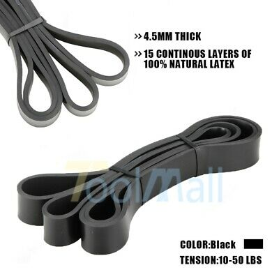 POWER GUIDANCE Latex Resistance Streching Band - Pull Up Assist Bands - Black US