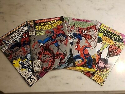 Amazing Spider-Man 359 361 362 363 Carnage Lot - Venom & 1st Carnage Key Issues!