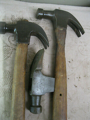 Vintage Carpenters Hammers. Plumb And Cheney. Old