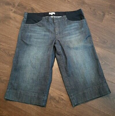 Mamas & Papas Maternity longer length denim Shorts Size 14 uk