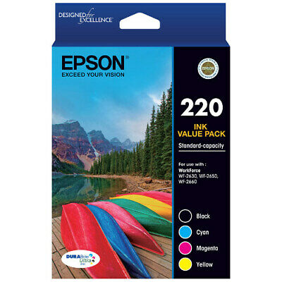 Epson Genuine 220 / 220 Value Pack Ink Cartridges For WF2630/WF2650/XP220/XP320