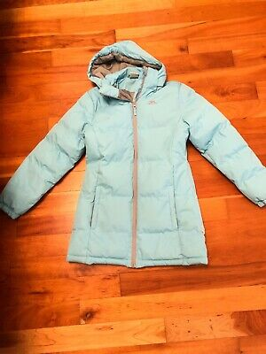 Girl's Blue Trespass Winter Jacket Coat Age 11 To 12 Years Coldheat Insulation