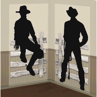Western Saloon West Scene Setter Theme Party Hanging Wall Decoration Room Roll