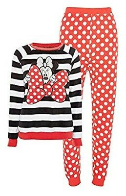Primark Ladies Fleece Minnie Mouse Pyjamas Women Girls Cosy Warm Winter PJ Sets