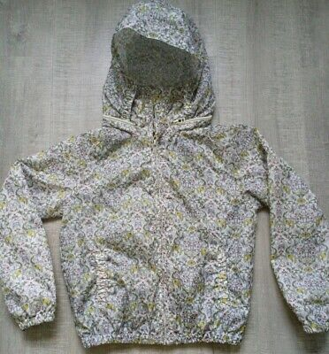 Next Girls Flowery Hooded Rain Coat , Age 9