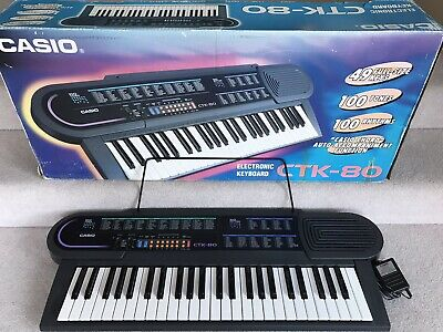 Casio CTK-80 Electronic Keyboard 49 Fullsize Keys 100 Tones & Rhythms In Box VGC