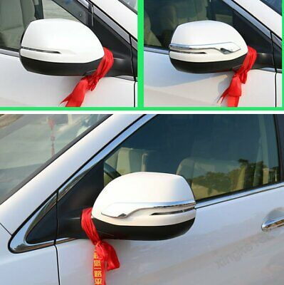 ABS Chrome Door Rearview Mirror Strip Cover Trim For Honda CRV CR-V 2012-2016