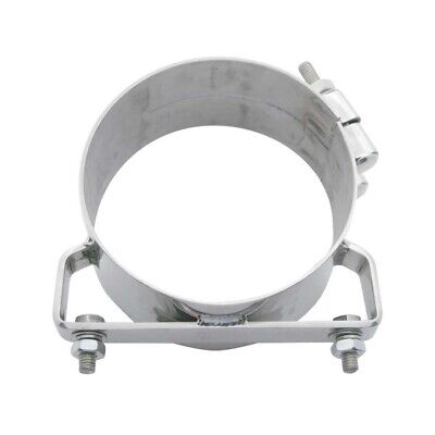 "Deluxe Stainless Steel Wide Band 7"" Exhaust Clamp"