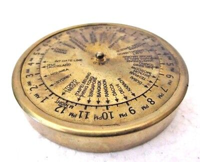 Brass World Timer - Little and Very Nice - Nautical / Marine -FREE SHIPPING(160)