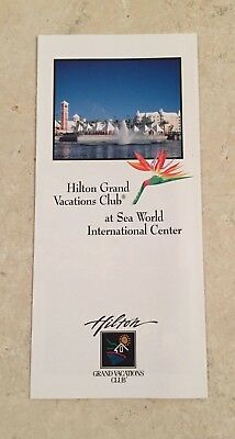 Vintage Hilton Grand Vacations Club at Sea World Internal Center Brochure Guide