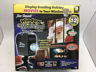 Window Wonderland Window Projector System, 6 Christmas, 6 Halloween Movies.