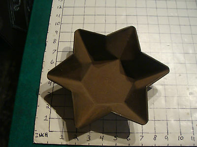 Vintage early TIN pan STAR OF DAVID, uncleaned, VERY NICE AND OLD