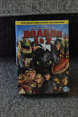 dreamworks how to train your dragon 1 and 2 boxed set dvds. brand new